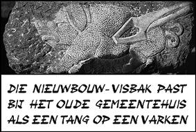 Tang op varken van Schotense beeldhouwer Herman Cornelis